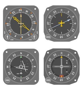Aircraft instruments set #5