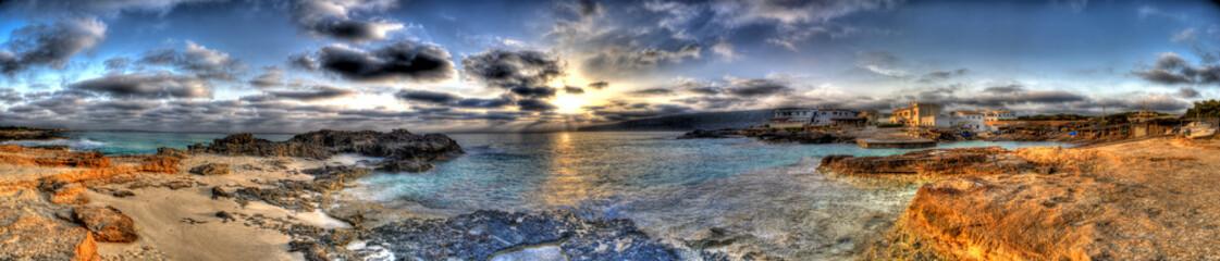 Panoramica pueblo costero - Formentera
