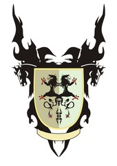 Shield  with dragons