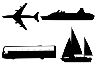 Transport silhouette collection