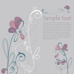 Illustrated Floral Card