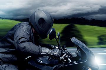 Fototapete - Fast Motorbike