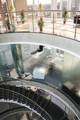 Office corridor glass door modern
