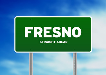 Fresno, California Highway Sign
