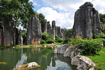 Photo sur cadre textile Chine Shilin - Stone Forest