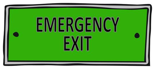 Emergency Exit Wall mural