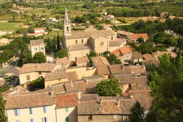 Fototapeta bonnieux - widok ze wzgórza obraz