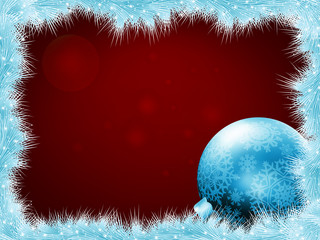 Christmas balls at the xmas glow background. EPS 8