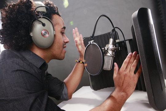 Young radio host