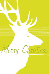 green christmas deer card