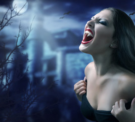 Acrylic Prints Full moon Vampire