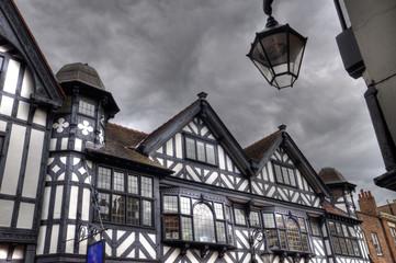 Tudor Buildings, Chester, England. Wall mural