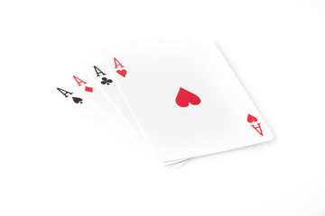 A set of playing cards