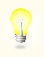on electric bulb