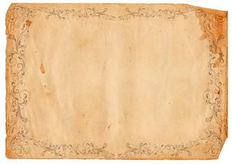 altes Papier mit verzierten Rahmen