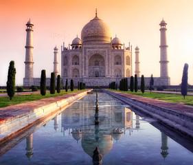 Tuinposter India Taj Mahal in Agra
