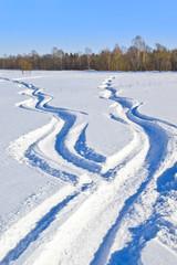 Fototapete - Snow ways
