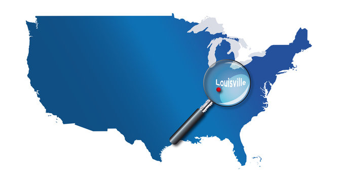Louisville, Kentucky, États-Unis, USA - localisation