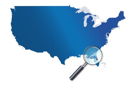 Orlando, Floride, États-Unis, USA - localisation - Towns of the