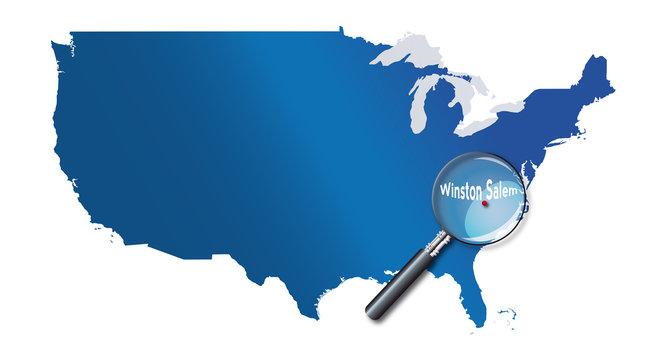 Winston-Salem, North Carolina, états-unis, USA - localisation
