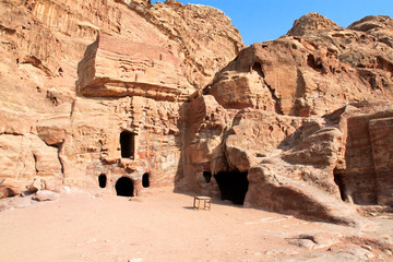 Urn Tomb in Wadi al-Farasa valley, Petra