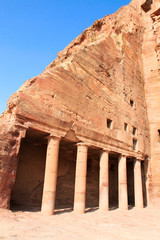 Tombs of Urn Tomb in Wadi al-Farasa valley, Petra