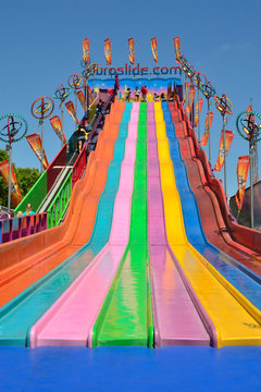 Colorful Giant Slide Ride