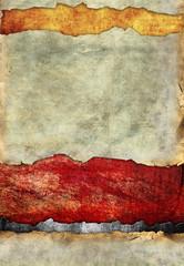 Grunge torn paper, color background