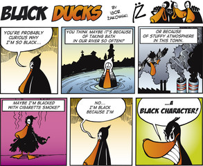 Fotorolgordijn Comics Black Ducks Comics episode 67