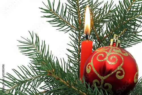 kerze mit weihnachtskugel stockfotos und lizenzfreie bilder auf bild 33883416. Black Bedroom Furniture Sets. Home Design Ideas