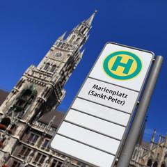 Haltestelle Marienplatz