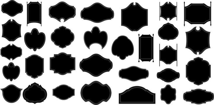 Black Shape Frame Silhouettes