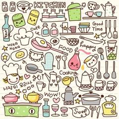 Cute Doodle Kitchen Stuff