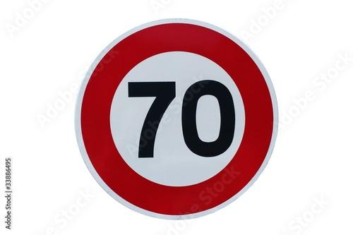 panneau de limitation de vitesse 70 km h photo libre de droits sur la banque d 39 images. Black Bedroom Furniture Sets. Home Design Ideas