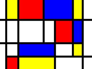 Bunte Rechtecke; den Kunstwerken von Mondrian nachempfunden