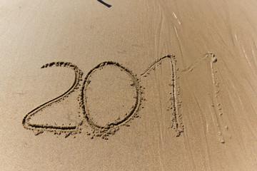 Escritura en la playa 2011