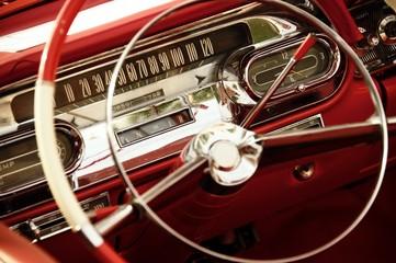 Vintage car interior.