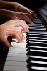 Playing digital hybrid piano