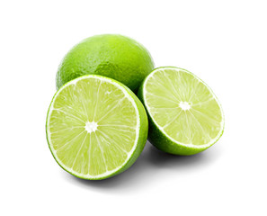 Two halves of lime and one whole lime