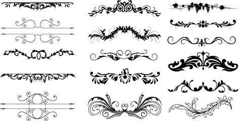 Creative Abstract Design Flourish Divider Elements