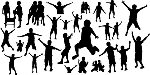 Happy Kids Silhouettes