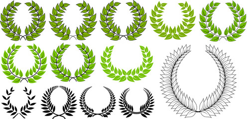 Fresh Green Laurel Wreaths Collection