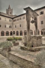 Wall Mural - Cloister in Abbazia di (Abbey of) Monte Oliveto Maggiore