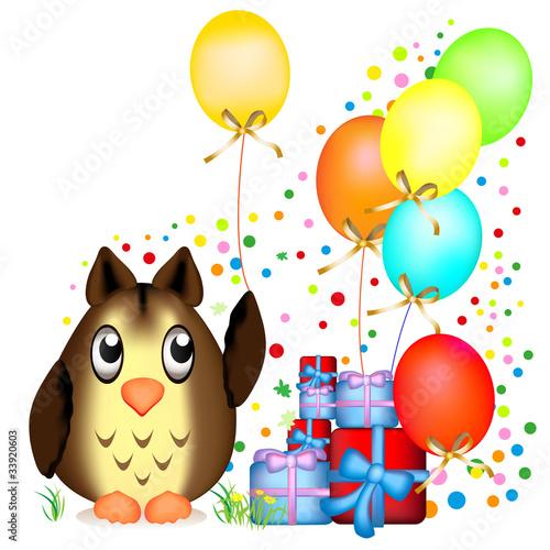Geburtstag Einladung Eule