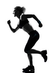 Wall Mural - woman workout fitness posture running runner