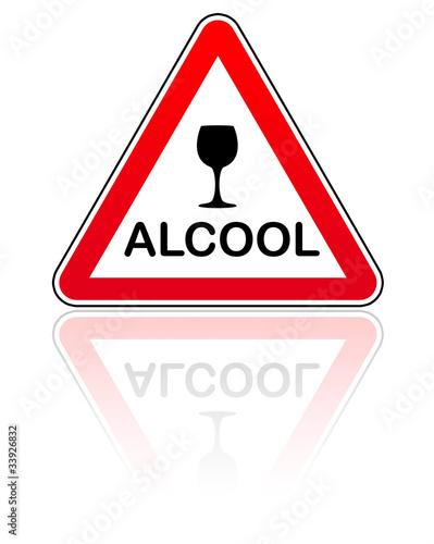 Panneau attention danger alcool photo libre de droits - Alcool a friction ou acheter ...