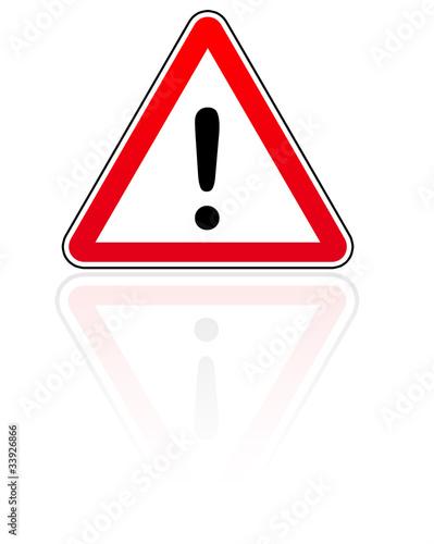 panneau attention danger photo libre de droits sur la banque d 39 images image 33926866. Black Bedroom Furniture Sets. Home Design Ideas