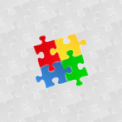 Abstract background of jigsaw puzzle pieces