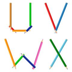Colored Pencils Alphabet