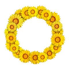 Blumenrahmen rund